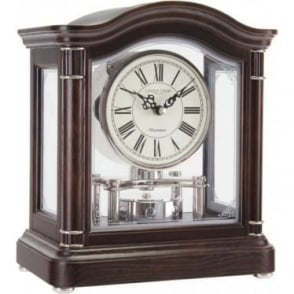 London Clock Company Oak Finish Westminster Chime Wooden Mantle Clock 12036