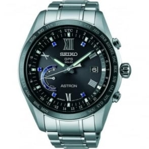 Seiko Astron Gents  Titanium Solar GPS Watch Limited Edition SSE117J1