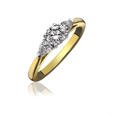 18ct Gold Claw Set Diamond 0.62ct Engagement Ring