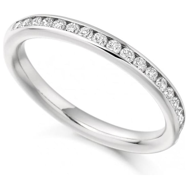 18ct White Gold Channel Set Diamond Wedding Band / Eternity Ring