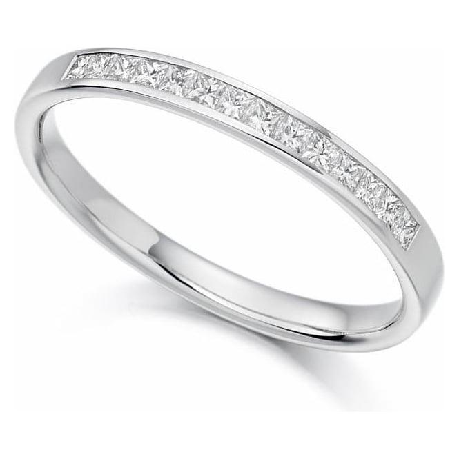 18ct White Gold Channel Set Diamond Wedding Band / Eternity Ring