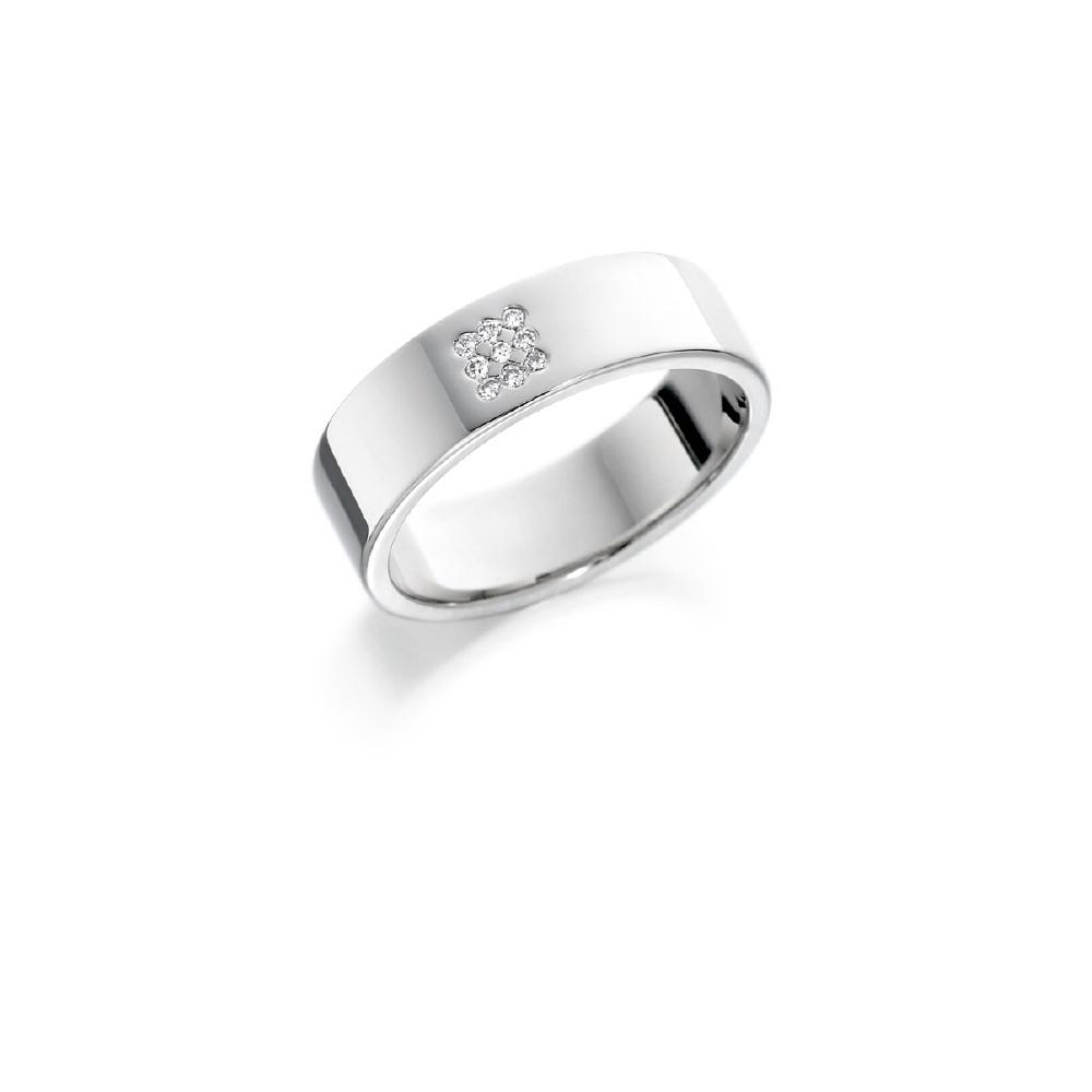 18564c7be2b53 Rigby Jewellers Own Brand 18ct White Gold Diamond Set Wedding Ring
