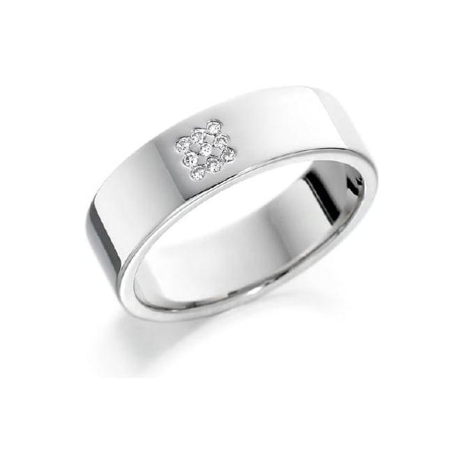 18ct White Gold Diamond Set Wedding Ring