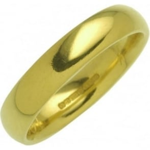 18ct Yellow Gold Court Shape Wedding Ring
