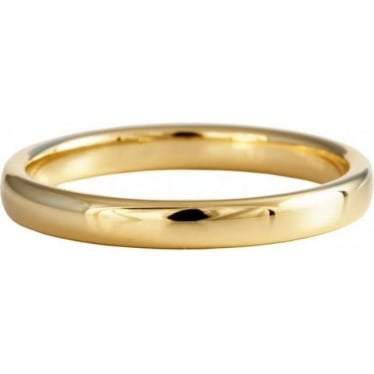 9ct Yellow Gold 4mm Wide Flat Court Profile Wedding Ring