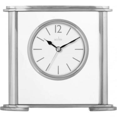 Aluminium & Glass Mantle Clock - Colston 36957