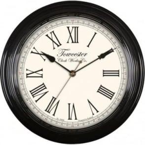 Acctim Black Quartz Battery Wall Clock Redbourn 26703