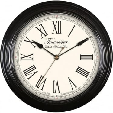 Acctim Black Quartz Battery Wall Clock Redbourn 26703