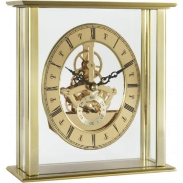Acctim Gold Finish Battery Skeleton Mantle Clock Malvern 36508
