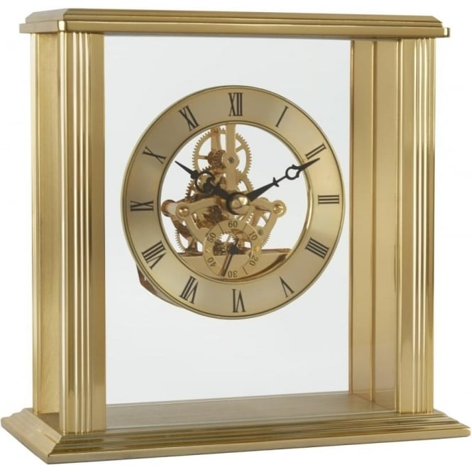 Acctim Gold Finish Battery Skeleton Mantle Clock Vermont 36708