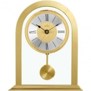 Gold Finish Mantle Clock with Pendulum Colney. 36938