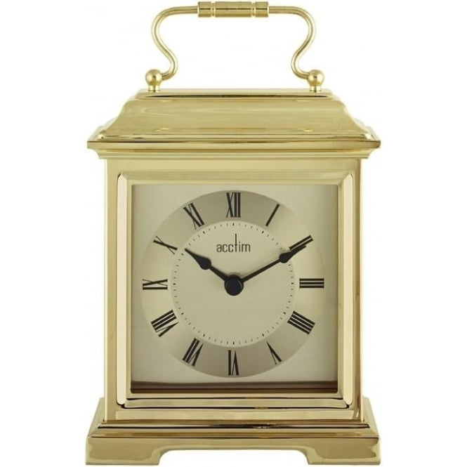 Acctim Gold Finish Quartz Battery Carriage Clock - Darcey 36748