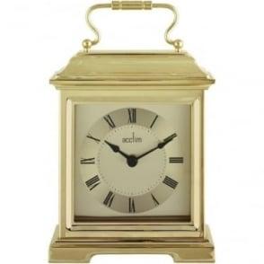 Gold Finish Quartz Battery Carriage Clock - Darcey 36748