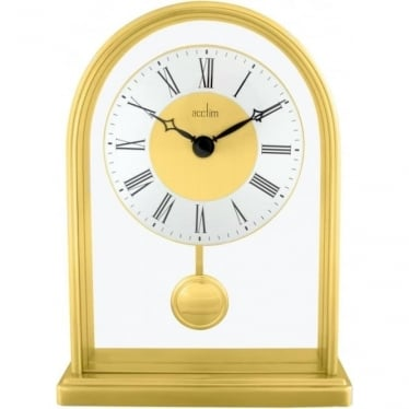 Acctim Gold Finish Quartz Battery Mantle Clock Thurrock 36828
