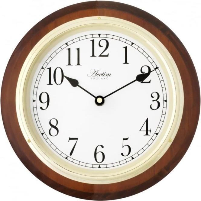 acctim radio controlled battery wall clock boston 24186t