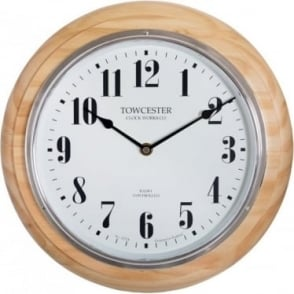 Acctim Radio Controlled Wood Battery Wall Clock Saltaire 74471