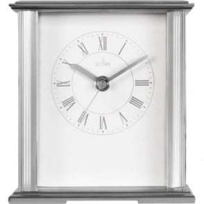 Acctim Silver Finish Quartz Battery Mantle Clock Saltaire 36867