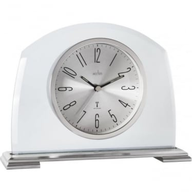 Acctim Silver Finish Radio Controlled Mantle Clock Harman 77097