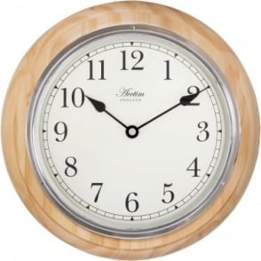 Acctim Wood Quartz Battery Wall Clock Boston 24181