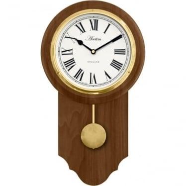 Acctim Wooden Battery Pendulum Wall Clock Taunton 28306