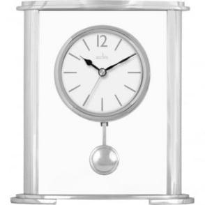 Aliminium Quartz Battery Pendulum Mantle Clock- Aldbourne 36947