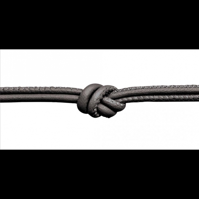 Endless Jewelry Anthracite Metallic Leather Necklace