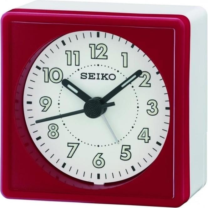Seiko Clocks Beep Red Alarm Clock QHE083Q