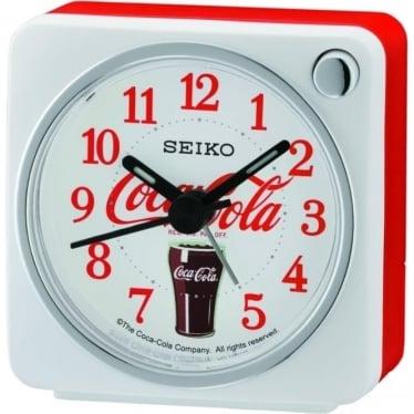 Beep White Alarm Clock Coca Cola QHE905W