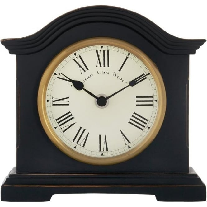 Acctim Black Acctim Battery Mantle Clock Falkenburg 33283