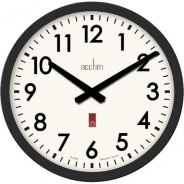 Black Round Quartz Battery Wall Clock Elswick 22443