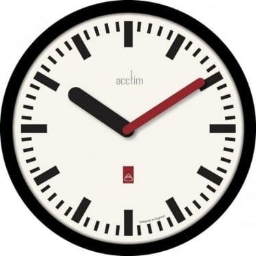 Black Round Quartz Battery Wall Clock Morris 22453