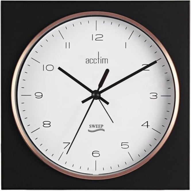 Acctim Black Square Wall or Mantle Quartz Battery Clock 22333