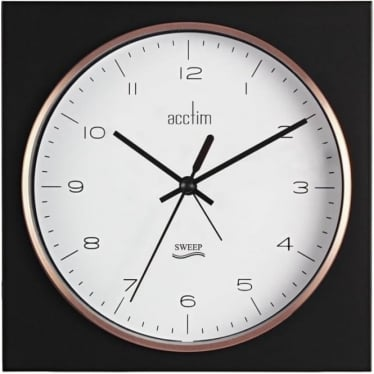 Black Square Wall or Mantle Quartz Battery Clock 22333