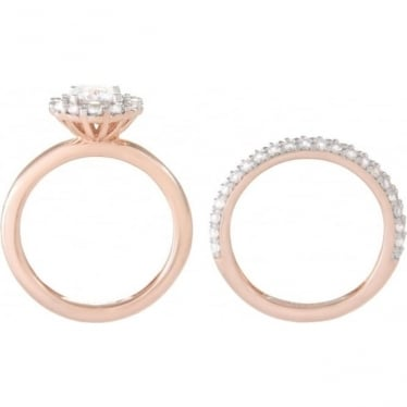 Bronzallure Cubic Zirconai Double Ring Set