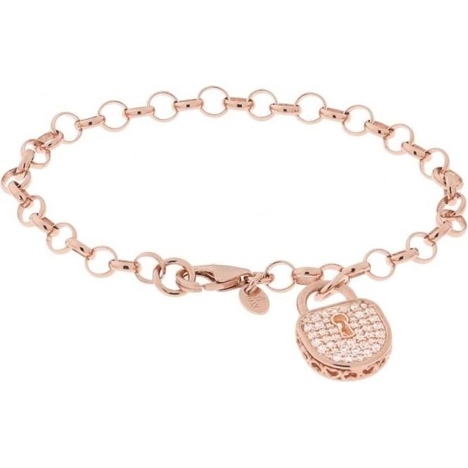 Bronzallure Jewellery Bronzallure Cubic Zirconia Charm Bracelet