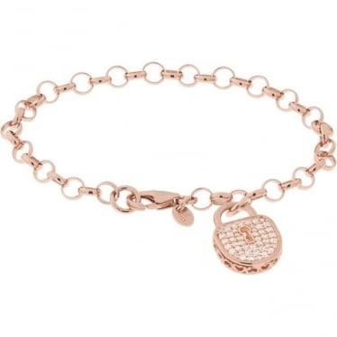 Bronzallure Cubic Zirconia Charm Bracelet