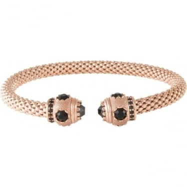 Bronzallure Platted Coloured Cubic Zirconia Torq Bangle