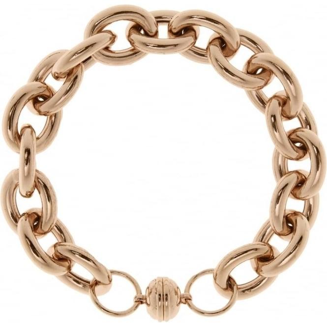 Bronzallure Jewellery Bronzallure Rolo Link Bracelet with Magnetic Clasp