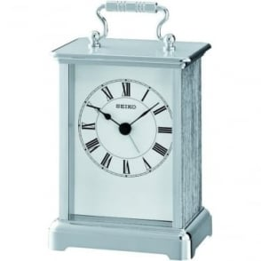 Chrome Finish Battery Carriage Clock Height 14cm QHE093S