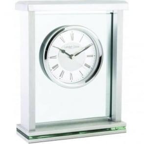 Chrome finish Battery Mantle Clock 05178
