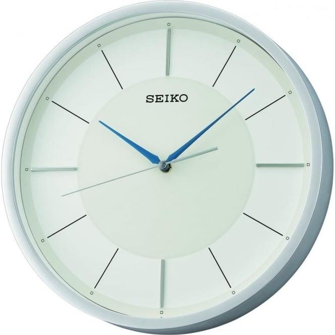 chrome finish round quartz battery kitchen wall clock qxa688s