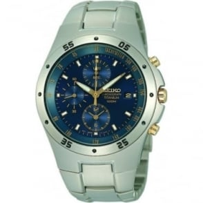 Chronograph Gents Titanium Quartz Bracelet Watch SND449P1