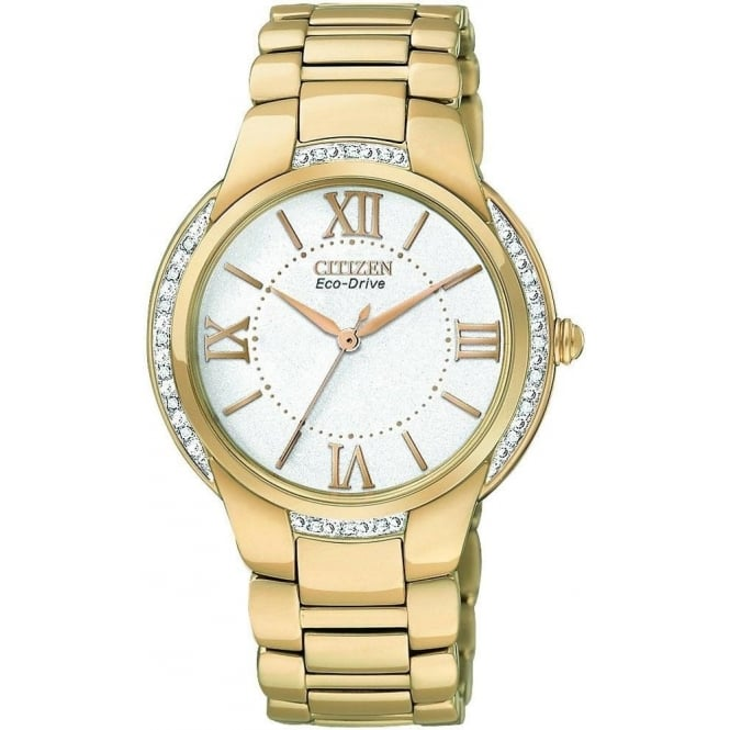 Citizen Watch Ciena Ladies Eco-Drive Diamond Set Bracelet Watch. EM0093-59A