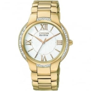 Ciena Ladies Eco-Drive Diamond Set Bracelet Watch. EM0093-59A