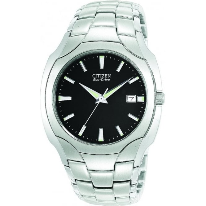 Citizen Watch Gents Stainless Steel Eco-Drive Watch on Bracelet BM6010-55E