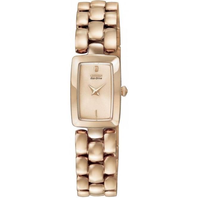 Citizen Watch Ladies Rose Eco-Drive Watch on Bracelet EG2903-51Q