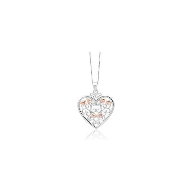 Clogau Silver & Gold Kensington Heart Pendant 3SKHP01