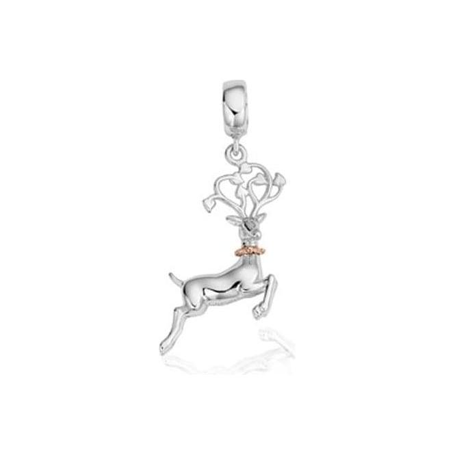 Clogau Silver & Gold Reindeer Milestone Charm 3SLLC242