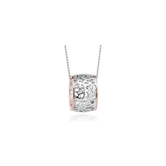 Clogau Silver & Gold Royal Roses Pendant 3SRRP02