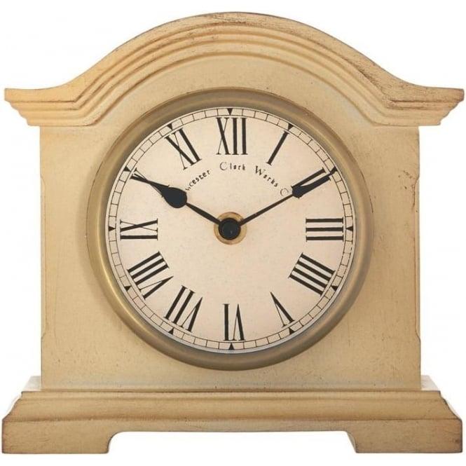 Acctim Cream Coloured Acctim Battery Mantle Clock Falkenburg 33282